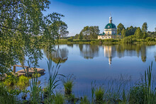 MOSCOW REGION, RUSSIA - June 10, 2021, Church Of Michael The Archangel In The Village Of Tarakanovo, Moscow Region. In This Church The Poet Block And Mendeleyeva Were Married In 1903
