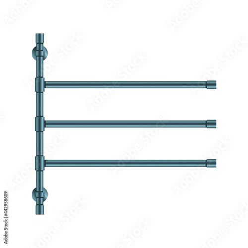 Fotografie, Obraz Vector illustration heated towel rail isolated on white background