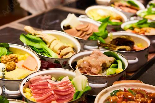 Murais de parede Assorted Chinese food set