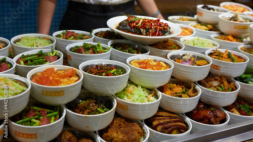 Fotografie, Obraz Assorted Chinese food set