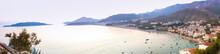 Montenegro, Rafailovici. Sunset View On Sea Beach