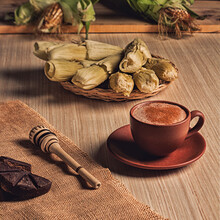 Foodstyling Of Still Life With Coffee And Cinnamon Sticks