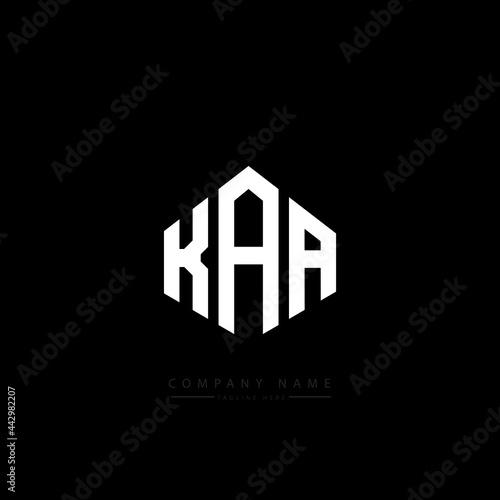 Photo KAA letter logo design with polygon shape
