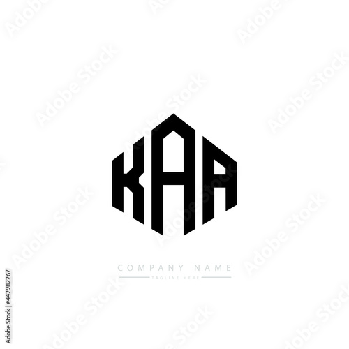 Wallpaper Mural KAA letter logo design with polygon shape