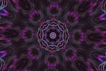 Abstract Kaleidoscope Background In Purple And Black