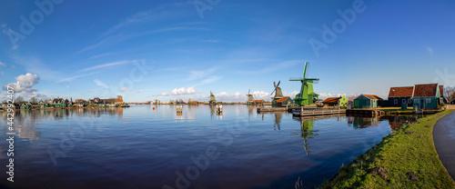 Fotografering Dutch windmills at Zaanse Schans