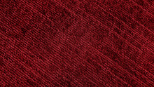 Close Up Of Monochrome Of Red Carpet Texture Background For Interior Flooring Material. Theatre Carpet Background. Luxury Polypropylene And Polyester Rug.
