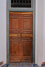 Traditional Wooden Door In Morocco
