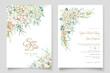Watercolor Hydrangea Wedding Invitation Card Set_2