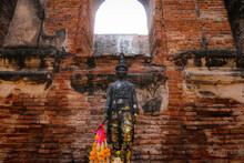 King Narai Statue In King Narai's Palace (Phra Narai Ratchanivet) In Lopburi In Somdet Phra Narai National Museum