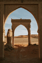 Ancient Arch Located In Desert