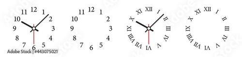 Canvastavla Clock face vector illustration