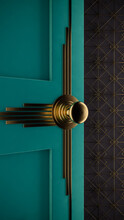 Door Knob With Art Deco Style