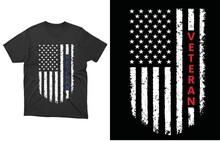 Veteran T-shirt Vector Design, American Flag Shirt