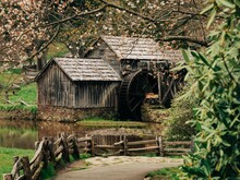Mabry Mill In Early Spring, On The Blue Ridge Parkway In Virginia