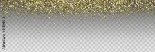 Canvas Print Sparkling glitter isolated on transparent background