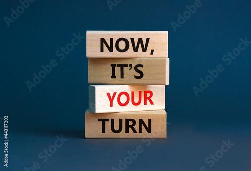 Fotografia Now, it's your turn symbol