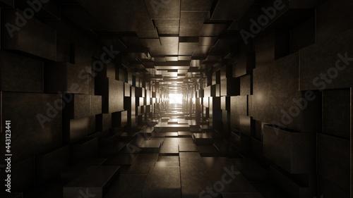 Tablou Canvas Dark tunnel background