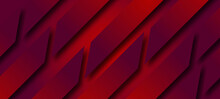 Red Rectangle Line Abstract Background .