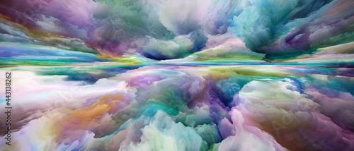 Obraz na plátně Evolving Land and Sky