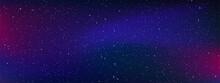 Realistic Galaxy Sky, Starry Nights With Bright Shiny Stars, Shining Stars In The Dark Sky. Vector Illustration.