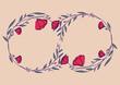 Szablony ramek z wzorem roślinnym w prostym nowoczesnym stylu z listkami i kwiatami - romantyczny, kobiecy wzór na zaproszenia ślubne, życzenia, kartki urodzinowe, tło dla social media stories.