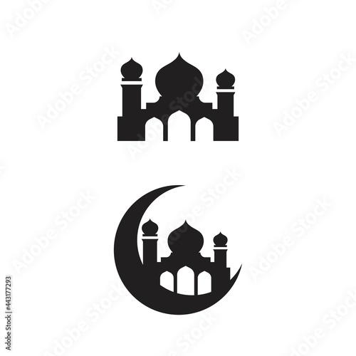 Obraz na plátně Mosque icon vector Illustration design