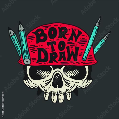 Fotografie, Obraz draughtsman art ist painter pencils schooling Design vector illustration for use