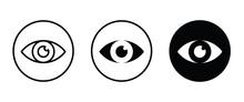 Vision Icon, Eye Vector, Sign, Symbol, Logo, Illustration, Editable Stroke, Flat Design Style Isolated On White