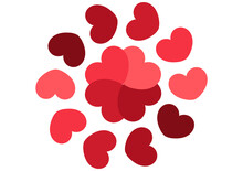 Heart Background With Circular Hearts Forming A Circle Inside There Are Intertwined Hearts