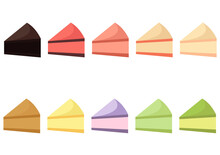 Illustration Of Cakes With Various Flavors And Bright Colors