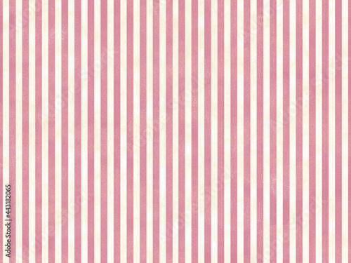 Fotografie, Obraz オシャレなストライプ背景 赤と白