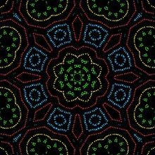 Indian Mandala Pattern With Black Background.