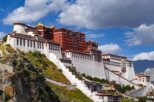 Tela Potala Palace, the former winter palace of the Dalai Lamas, in Lhasa, Tibet