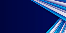 Modern 3d Blue Abstract Background With Blue White Line Stripes. Abstract Geometric Blue And White Color Background. Vector, Illustration.