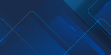 Modern Dark Blue Squares Design Background. Suit For Business Corporate Presentation Background And Futuristic Technology Concept
