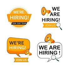 Job Vacancy Concept With We Are Hiring Text Design. Orange And White Color Job Vacancy Social Media Post Design. We Are Hiring A Banner Design With An Orange Shade.