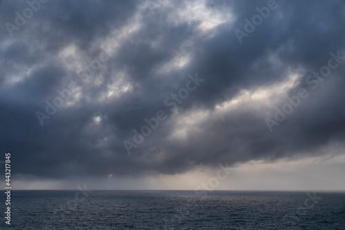 Obraz na plátne Stunning fine art landscape image of view from Hartland Quay in Devon England du