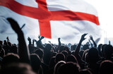 England supporters and fans during football match