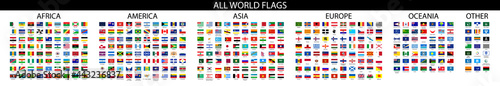 Foto Flag of world. Vector icons.