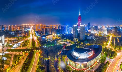 Changzhou city architecture landscape night view