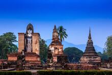 Pagoda Buddha Statue At Sukhothai Historical Park