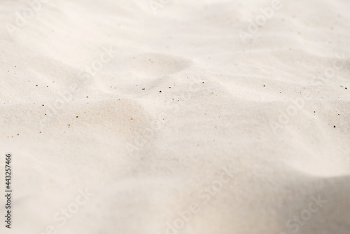 The texture of white sand in perspective.