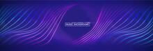 Colorful Sound Waves. Digital Music Waves Equalizer. Background Blue. Music Background Vector Concept.