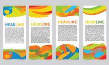 Collection Banner Design, Brazil Flag Color Background, Sports Banners. Vector Illustration. Print Web Banner Design. Summer Sports Background Design.