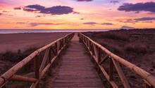Pasarela En La Playa, Xeraco, Valencia, Spain