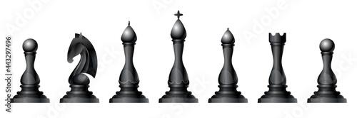 Foto Chess figures vector set