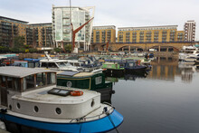 Boats In A Little Harbor In The London Docklands