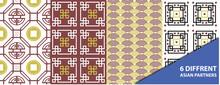 Patrones Asiáticos, Estampado, Decoración, Prints. 6 Diferentes Diseños