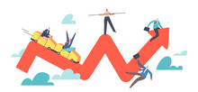 Financial Investment Volatility, Uncertainty Or Change In Business And Crisis Stock Market, Businesspeople Up And Down